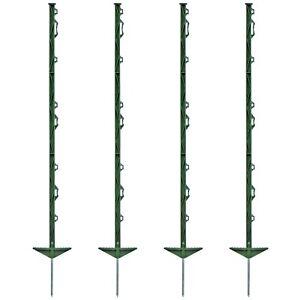 20x Weidezaunpfähle 105cm Kunststoffpfähle Weidezaun Pfahl Koppelpfahl grün
