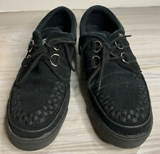 TUK CREEPERs LOW SOLE BLACK SUEDE LEATHER SNEAKERS SHOES SZ 9 UK Style