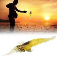 New 10 Pcs Lure Bait Shrimp Fishing Simulation Prawn Fresh Saltwater Fish Tackle