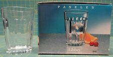 Libbey Set Of 4 Clear Glass Paneled Juice Glasses 8.5 Ounces #5640