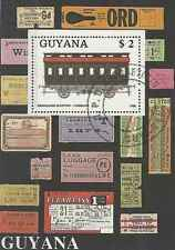 Timbre Trains Guyana BF33 o réf. Michel lot 26644