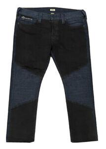 True Religion Men's Rocco Button Fly Dark Blue Classic Slim Size 40 Waist Jeans
