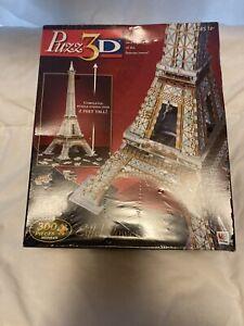 Puzz 3-D Eiffel Tower Puzzle 300 Pieces Sealed NIB