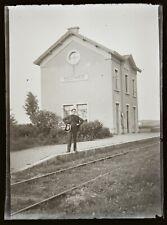 FRANCE LYON GARE DE DECINES circa 1900, NEGATIF Photo Plaque Verre 9X12