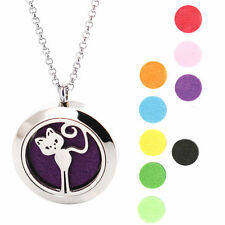 Cat  25mm Premium Aromatherapy Essential Oil Diffuser Locket Necklace