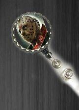 Jason Voorhies friday 13th halloween work Retractable Reel ID Badge Holder nurse