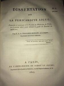MEDIZIN. AUF PERIKARDITIS AKUTEN. 1825.