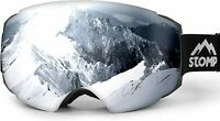 STOMP Ski/Snow Goggles Frameless Interchangeable Lens 100% UV400 Protection