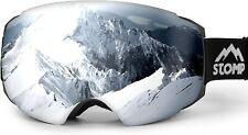 STOMP Ski/Snow Goggles Frameless Interchangeable Lens 100% UV400 Protection