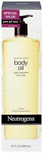 Neutrogena Lightweight Body Oil for Dry Skin, Sheer Moisturizer in Light Sesa...