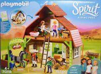 PLAYMOBIL Spirit 70118 Pferde-Stall mit Lucky Abigail Pru Vater Pferd Heu NEU