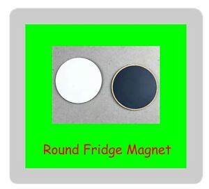 12 x Blank Sublimation Fridge Magnet MDF Round 5cm