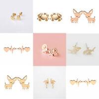 Fashion Cute Animal Womens Girl Silver Earrings For women Ear stud Jewelry Gifts