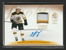2017-18 SP Authentic Charlie McAvoy 13/25 Retro Rookie Patch Auto