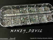 Profibox by money_devil 2500 St. Strasssteine Diamant & Brilliant Effekt 3 Gr.