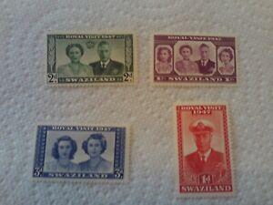 GEORGE VI 1947 ROYAL VISIT SWAZILAND  UN MOUNTED MINT