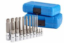 20pc XZN 12 Point MM Triple Square Spline Bit Socket Set Tamper Proof Bits Long
