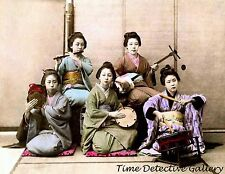 Young Japanese Musicians, Japan - 1880s - Historic Photo Print