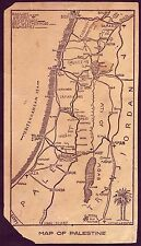 Israel Palestine Jordan Beirut Damas Map Railways Air Port and more 12x22cm