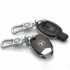Fiber Remote Real Carbon Keyless Key Cover Case Shell for Mercedes Benz KEY FOB