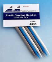 Albion Alloys 4444  6 x Assorted Plastic Sanding Needles 150,240 & 320 Grit Pack