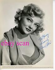 VALERIE BETTIS Vintage Original Photo 1952 SEXY BUSTY Autograph PORTRAIT Rare