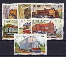 Kambodscha 584/90 postfrisch / Eisenbahn ..............
