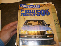 l Action Automobile : 1er Essai Peugeot 505