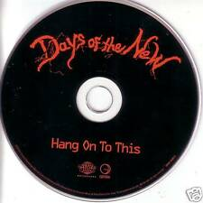 DAYS OF THE NEW Hang on to this PROMO CD single TANTRIC