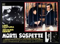 T107 Fotobusta Dead Verdacht Lino Ventura, Jacques Deray Claudine Auger Laura 1