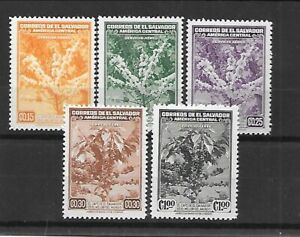 SALVADOR Sc C73-77 LH issue of 1940 - COFFEE TREES