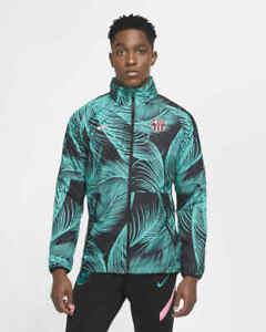Nike FC Barcelona AWF Hooded Soccer Jacket Mens Size XXL CK8570 396 New Green