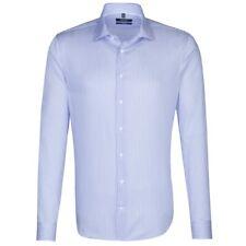 Seidensticker Langarm Hemd Tailored Kent blau weiß Gestreift Gr. 44 / 247090.12
