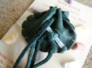 SELF LOVE CRYSTAL MEDICINE BAG Pocket Size Deer Leather Pouch + Reiki Gemstones
