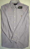 NEW $98 Polo Ralph Lauren Purple Long Sleeve Shirt Mens Cotton Oxford NWT