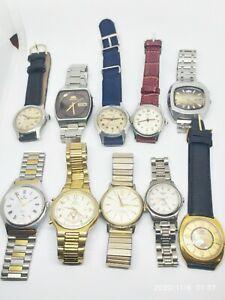 Job lot of 10 Vintage Wrist Watches Seiko Bulova  Orıent  Tissot Swiss Made