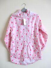 Girls Mac. Age 10 Years. Pink Lightweight Heart Print Hooded Mac, Girls Coat