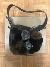 Fendi Oyster Zucca, Lizard & Fur shoulder bag New Never Used-mint Condition