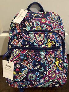 Vera Bradley Disney SENSATIONAL SIX PAISLEY Campus Backpack - School Bag - EXACT
