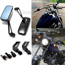 Y Black Motorcycle Rectangle Mirrors For Harley Softail Sportster Chopper Bobber