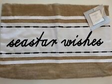 NEW Pillow Cover Case 21 x 14 Nautical seastar wishes burlap Country zipper