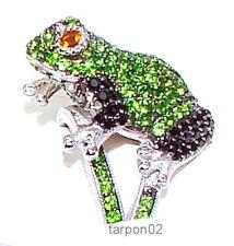 Judith Ripka 2.60ct ChromeDiopside+Blk Spinel+Peridot+Citrine Frieda Frog Ring-7
