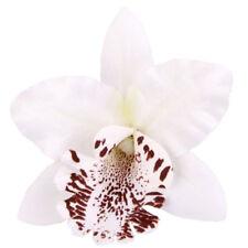 20pcs 8cm Simulation tete d'orchidee thailandaise (Blanc) C8Z9