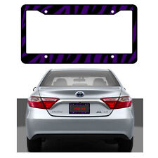 New Purple Zebra Print Car Truck Universal Fit License Plate Frame Made in USA