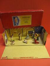 ALL ORIGINAL WEND AL CHRISTMAS NATIVITY SET WITH ORIGINAL BOX 1950 QUIRALU