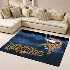 Minnesota Vikings Flannel Area Rug Living Room Bedroom Home Floor Mat Carpet