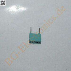 5 x 0.0033µF 0.0033uF 3nF 100V RM5 10% Folien Kondensator Capac Siemens  5pcs