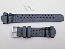 16mm black polyurethane PU watch band fits Citizen Aqualand JP1060-01 AL0050-06