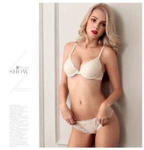 Women Lace Bra Set Push Up Bra Sexy Lace Briefs Lingerie Comfortable Underwear