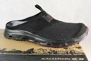 Salomon Damen Clogs Pantoletten Pantolette RX Slide 4.0 W schwarz 406733 NEU